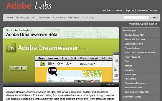 Dreamweaver CS4 Beat