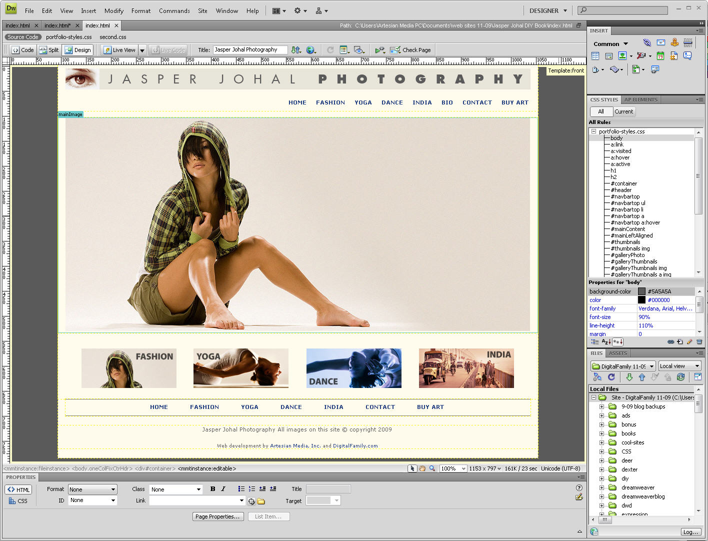 Index of dreamweaver images for Dream weaver template
