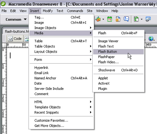 Launch Dreamweaver and Go Find Your New Features