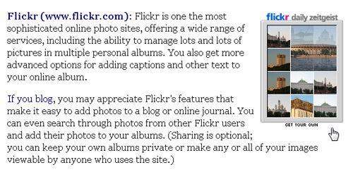 Working with Code From Flickr and Other Sites