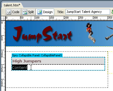 STEP 5 Add Content to Panel and Tab