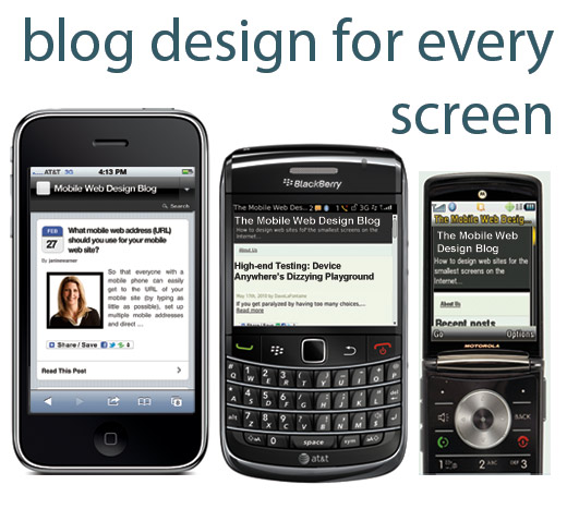 Mobile Blog Design for WordPress