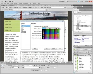 how to change link color in dreamweaver