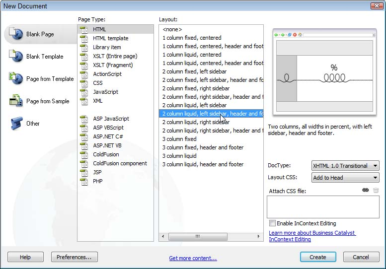 Editing css layouts in dreamweaver cs5 cs6 css layouts pronofoot35fo Image collections