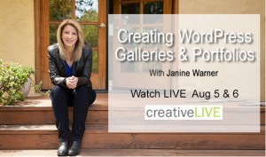 creativeLIVE WordPress course with Janine-Warner