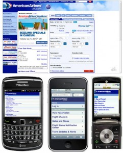 Adaptive Web Design Example - American Airlines