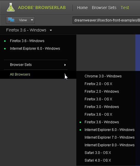 Preview Pages with Browsers on Windows or Mac