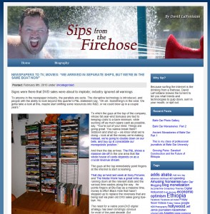 Sips From the Firehose Blog by David LaFontaine
