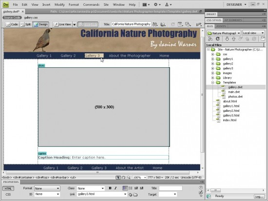 Creating websites with Dreamweaver HTML templates (.dwt) -
