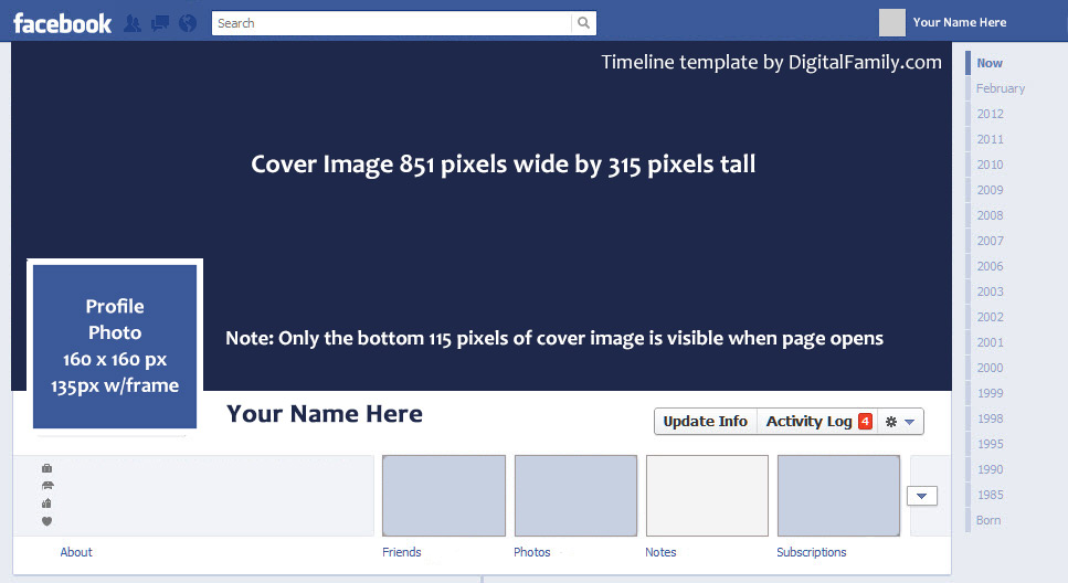 FacebookTimelineTemplate