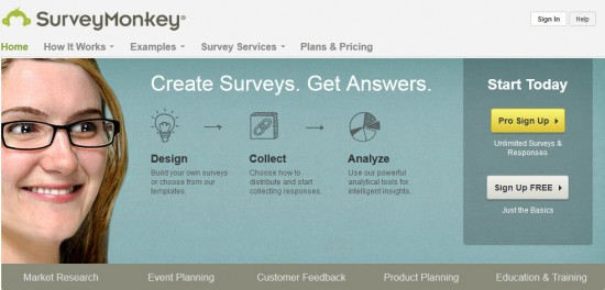 surveymonkey home page