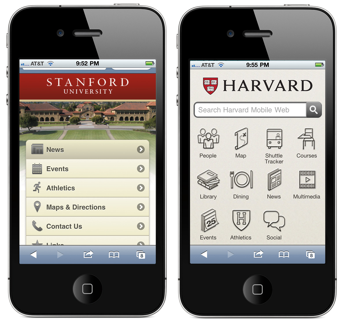 Mobile application sites: a selection of sites