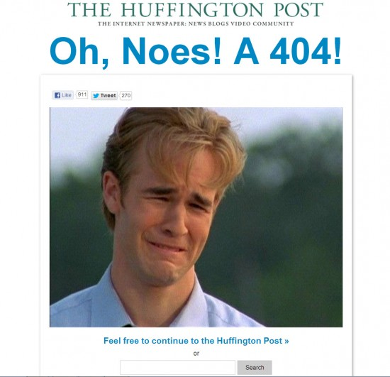 HuffingtonPost 404 Page