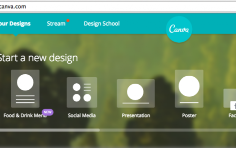 Canva online design tool