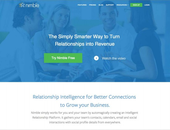 Nimble social dashboard