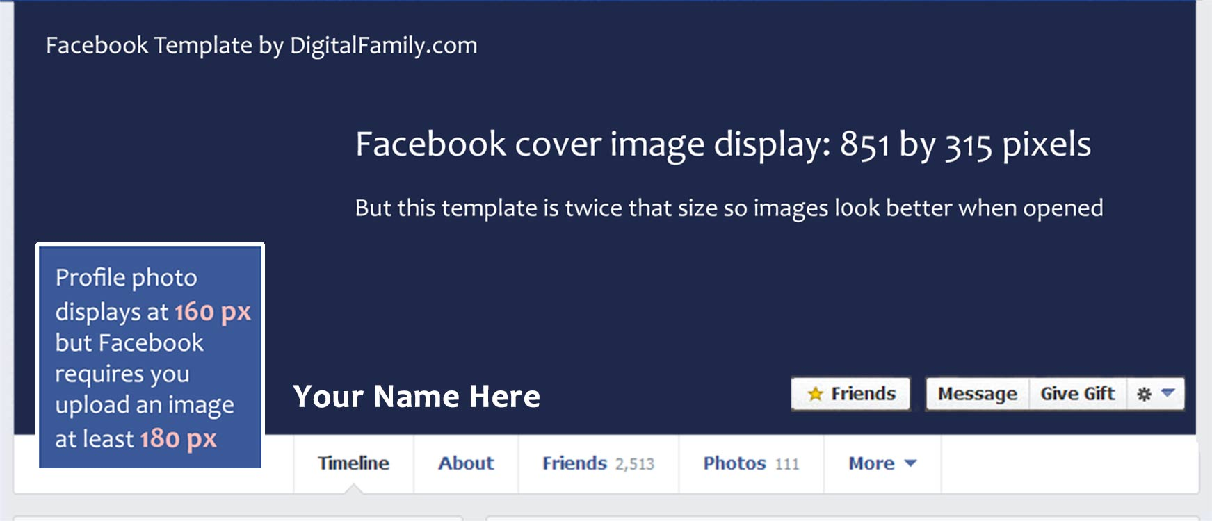 Facebook banner template demirediffusion my free template is twice the size facebook recommends maxwellsz