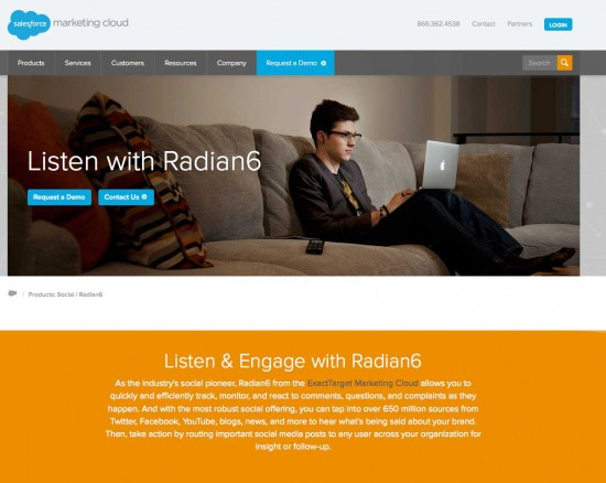 Radian6 social analytics