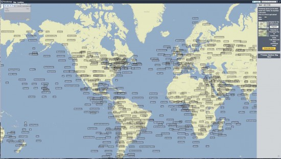 trendsmap shows tweets all over the world
