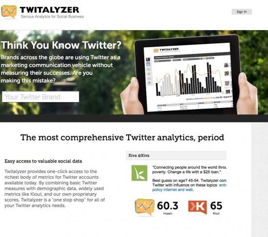 twitalyzer tool to manage twitter