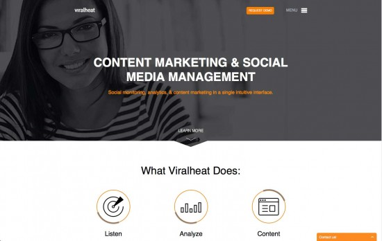 viralheat dashboard helps your content go viral