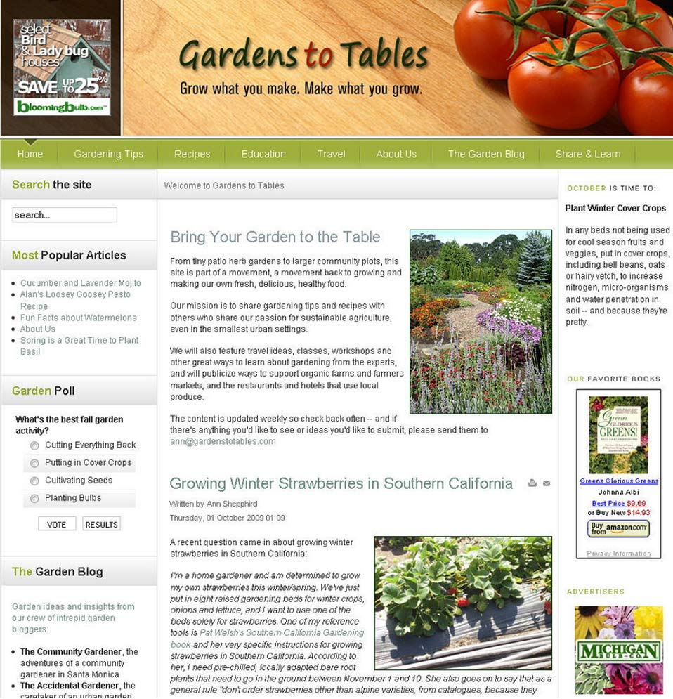 Gardens to Tables
