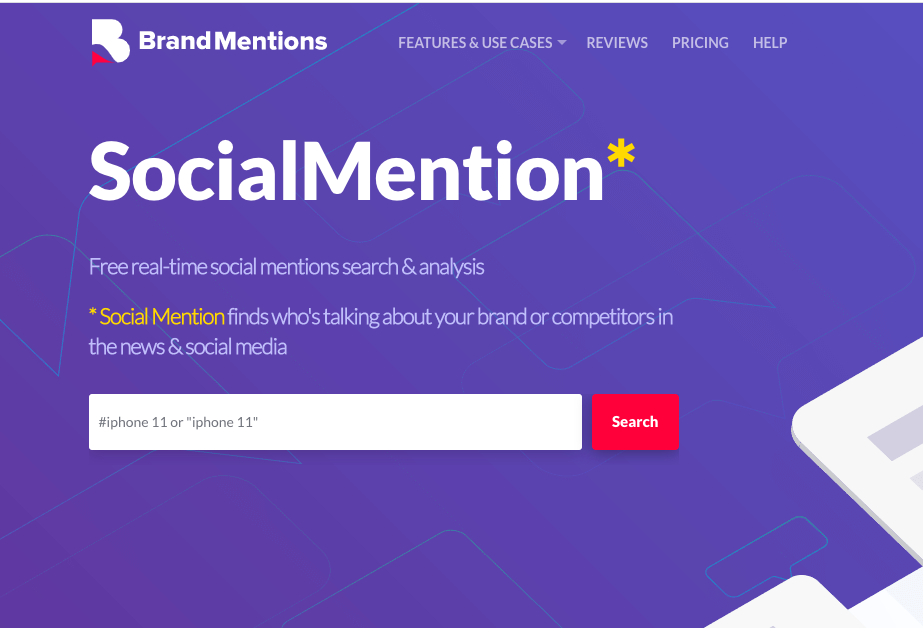 Social Mention by Brand Mention