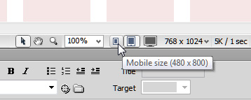Switching between mobile, tablet, and desktop in Dreamweaver layouts