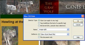 CSS Selectors in Dreamweaver