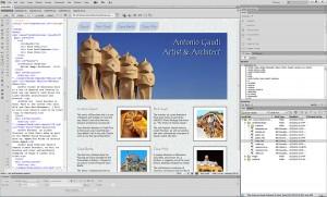 Antonio Gaudi Website Created in Dreamweaver CS6